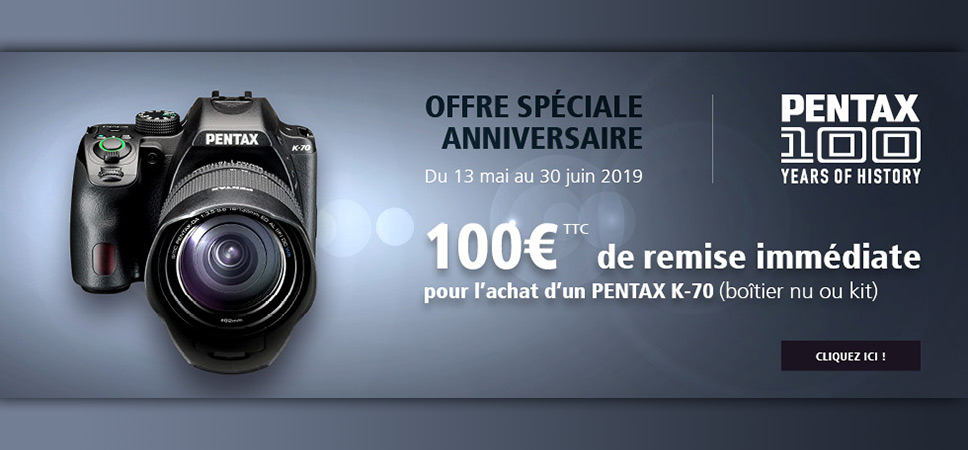 Offre Spéciale Anniversaire - PENTAX 100 Years of History