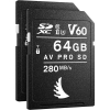 ANGELBIRD Carte SDXC AV PRO UHS-II V60 64GB 170MB/S Pack 2X (New)