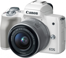 CANON Eos M50 + EF-M 15-45MM STM Blanc