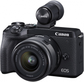 CANON Eos M6 Mark II + 15-45mm f/3.5-6.3 EF-M + Viseur (New)
