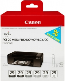 CANON Encre PGI-29 Multipack MBK/PBK/DGY/GY/LGY/CO