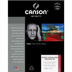CANSON Papier Photo Infinity A2 315g 25 Feuilles Highgloss