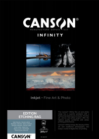 CANSON Papier Photo Infinity Edition Etching Rag A3 310g 25 Feuilles