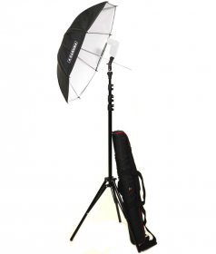 CARUBA Kit Parapluie Speedlite 83cm (Sac de Transport inclus)