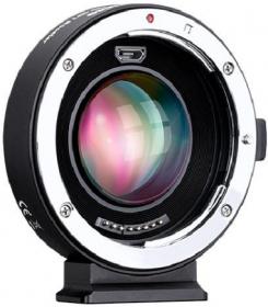 COMMLITE Bague Speedbooster X0.71 Canon EF/AF pour Micro 4/3