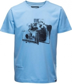 COOPH T-Shirt Homme Fidelaroid Ethereal Blue Taille L (destock)