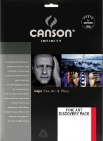 CANSON Papier Photo Infinity Pochette Découverte FineArt A4 14F