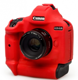 EASYCOVER Coque Silicone Rouge pour Canon 1Dx Mark III