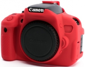 EASYCOVER Coque Silicone Rouge pour Canon 70D