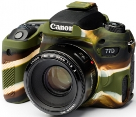 EASYCOVER Coque Silicone Camouflage pour Canon 77D
