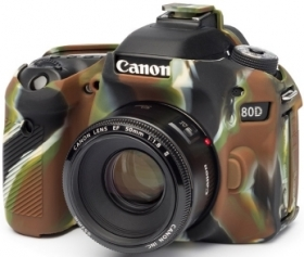 EASYCOVER Coque Silicone Camouflage pour Canon 80D