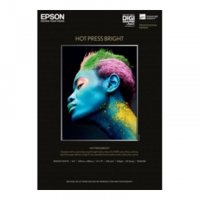 EPSON Papier Photo Hot Press Bright A3+ 25 Feuilles Digigraphie