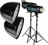GODOX Kit Complet de Studio avec 2 Flash QS800II