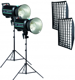 GODOX Kit Complet de Studio avec 2 Flash QS300II