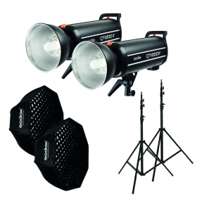 GODOX Kit Complet de Studio avec 2 Flash QT1200II
