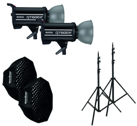 GODOX Kit Complet de Studio avec 2 Flash QT600II