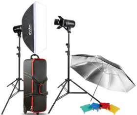 GODOX Kit Complet de Studio avec 3 Flash E250-F