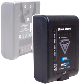 HAWK-WOODS VL-M50 Mini Batterie V-Mount 50Wh 14.4V 6A avec Dtap