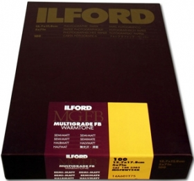 ILFORD Papier Multigrade Warmtone FB 18x24cm 100 Feuilles 24K