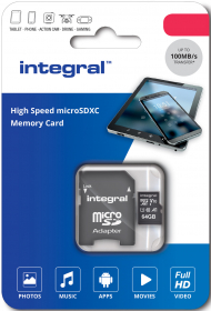 INTEGRAL Carte Micro SDHC UHS-l U1 32GB (100MB/s) + Adapt