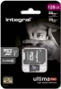 INTEGRAL Carte Micro SDXC Ultima Pro 128GB (80/25MB)(Class 10) +Adapt
