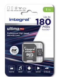 INTEGRAL Carte Micro SDXC Ultima Pro V30 A2 1Tb (150MB/s)+Adapt (OP CRAZYWEEK)