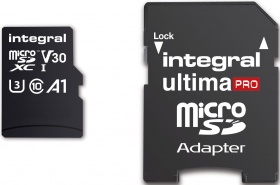 INTEGRAL Carte Micro SDXC Ultima Pro U3 256GB (100MB/s) +Adapt