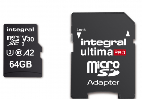 INTEGRAL Carte Micro SDXC Ultima Pro 64GB A2 (180/80Mb/s)