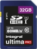 INTEGRAL Carte SDHC Ultima Pro 32GB (80MB/s) (Class 10)