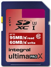 INTEGRAL Carte SDXC Ultima ProX 64GB (95/60MB/s) (Class 10)