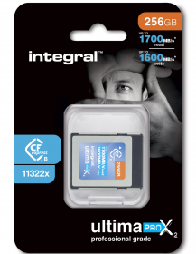 INTEGRAL Carte Cfexpress Type B 2.0 256Gb 1600/1700MB/s