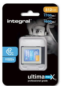 INTEGRAL Carte Cfexpress Type B 2.0 512Gb Cinematic 8K RAW