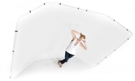 LASTOLITE 7623 Support + Fond Panoramique Blanc 4m