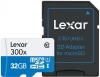LEXAR Carte Micro SDHC 32GB UHS-1 High Speed (300x) + Adaptateur SD