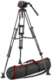 MANFROTTO MVK504TWINMC Trépied Vidéo CF Twin MS-Rotule 504 (destock)