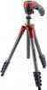MANFROTTO Kit Trépied Compact Action + Rotule Joystick Rouge