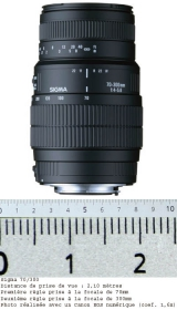 SIGMA 70-300 mm f/4-5.6 DG Macro Sony Alpha