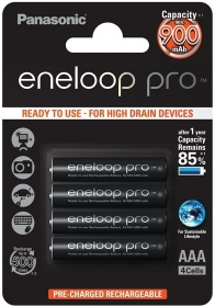 PANASONIC Eneloop Pro 4 Batteries LR3 (AAA) 900mAh (Ready to use)