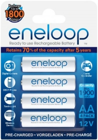 PANASONIC Eneloop 4 Batteries LR6 (AA) 1900mAh (Ready to use)