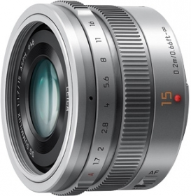 PANASONIC 15mm f/1.7 DG Summilux Micro 4/3 Silver