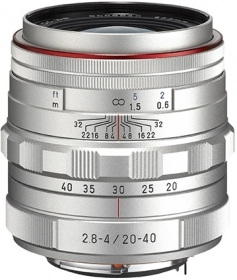 PENTAX 20-40mm f/2.8-4 ED Limited DC WR Silver