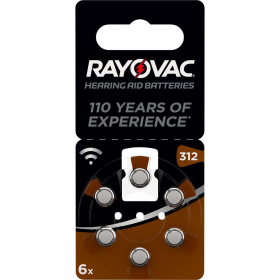 RAYOVAC Pile V312A Acoustique (x6)