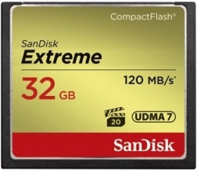 SANDISK Carte Compact Flash Extreme 32GB (120/85MB/s)