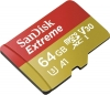 SANDISK Carte Micro SDXC Extreme 64GB V30 (100MB/s)+ Adapt