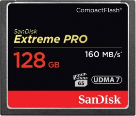 SANDISK Carte Compact Flash Extreme Pro 128GB 160 MB/s