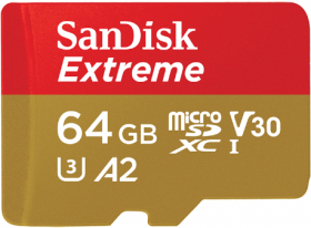 SANDISK Carte Micro SDXC Extreme 64GB V30 (160MB/s)+ Adapt