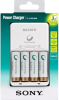 SONY Kit Chargeur + 4 Piles AA Rechargeables - 2100mAh