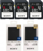 SONY Carte 32GB 300MB/s X3 + Chargeur Portable 10.000 mAh X2