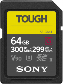 SONY Carte SD SF-G Tough UHS-II 64GB 300MB/s