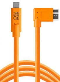 TETHER TOOLS Câble USB-C vers Micro-B 3.0 Coudé Droit Orange